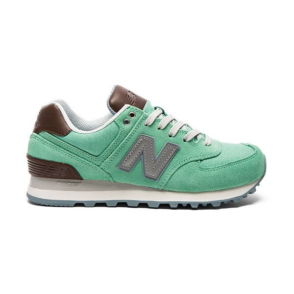 New Balance 574 Cruisin' Sneaker ($56) ❤ liked on Polyvore featuring shoes, sneakers, new balance, laced sneakers, lace up sneakers, new balance trainers and laced shoes
