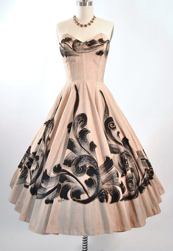 1950's Painted Mexican Sundress