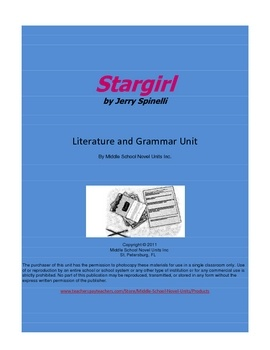 stargirl essay prompt A teacher's guide to teaching stargirl discussion and essay questions for all levels of students reading quizzes for every chapter, act.