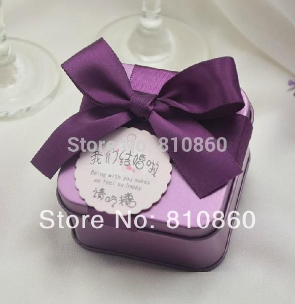 wedding supplies marry weeding favor box tin box