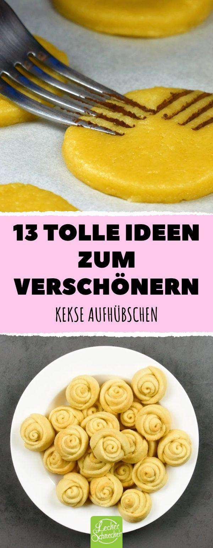 13 tolle Ideen zum Verschönern. Kekse aufhübschen! #lecker #rezepte # plätzche …