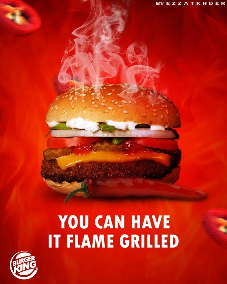 Burger king advertisement | Food poster design, Food ...