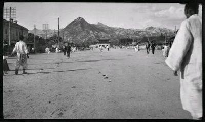 1907년 3월에 찍은 광화문 거리