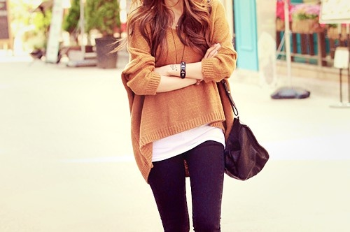 Baggy sweater + tight jeans: Outfits, Sweaters, Fashion, Inspiration, Style, Dream Closet, Clothes, Wear, Fall Winter