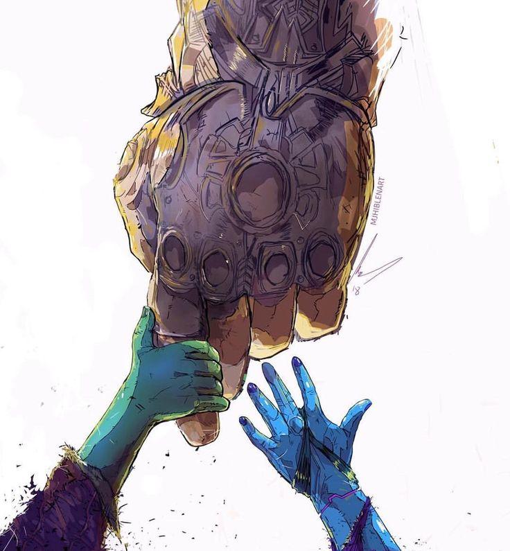 Wie Thanos Gamora betrachtet, im Gegensatz zu Nebula. Der erste, er clai …