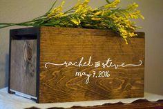 Wedding Card Box, Personalized Wedding Card Box, Money Box, rustic card box, unique card box, wood card box, wedding advice box by Woodlandedges on Etsy https://www.etsy.com/listing/271533042/wedding-card-box-personalized-wedding
