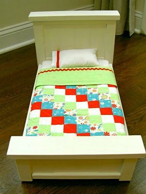 making an American Girl doll bed and bedding ~ from that's my letter