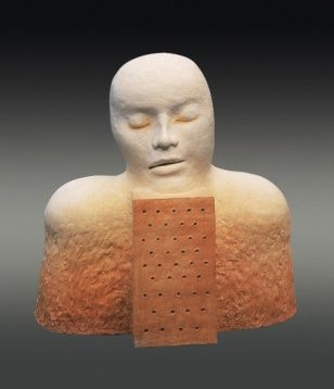 Meditation, stoneware, 48 x 37 cm, 1998