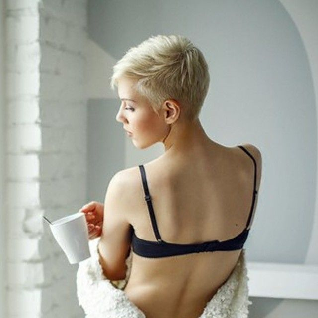 short haired german blonde