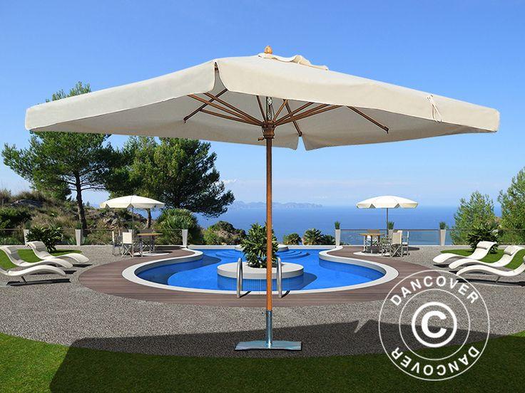 parasol palladio standard with valance 3x3 m ecru top of. Black Bedroom Furniture Sets. Home Design Ideas