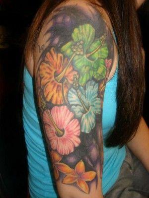 -flor-tatuajes hawaiano -1