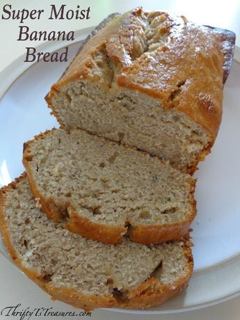 This Super Moist Banana Bread is one of my go-to easy recipes because I can have it cooking in the oven in under 15 minutes.