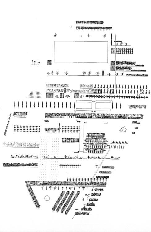 Rem Koolhaas, Masterplan for the Parc de la Villette in Paris, 1982