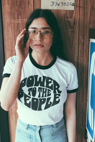 Power To The People Ringer Tee