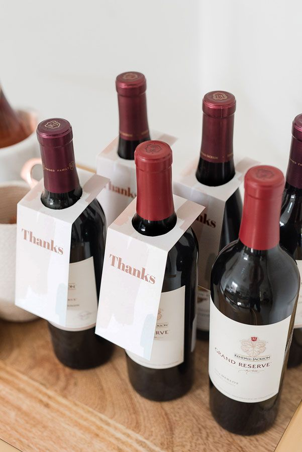 If you're attending a Friendsgiving or Thanksgiving, and you're bringing a bottle of wine, use this printable Thanksgivingwine tag to gift your host with!