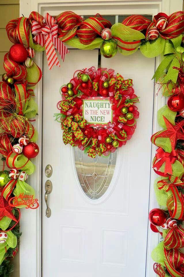 Festive Christmas doorway