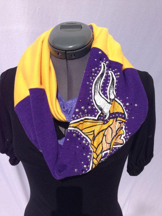 Minnesota Vikings TShirt Infinity Scarf by spiritwearbyjeana, $24.00