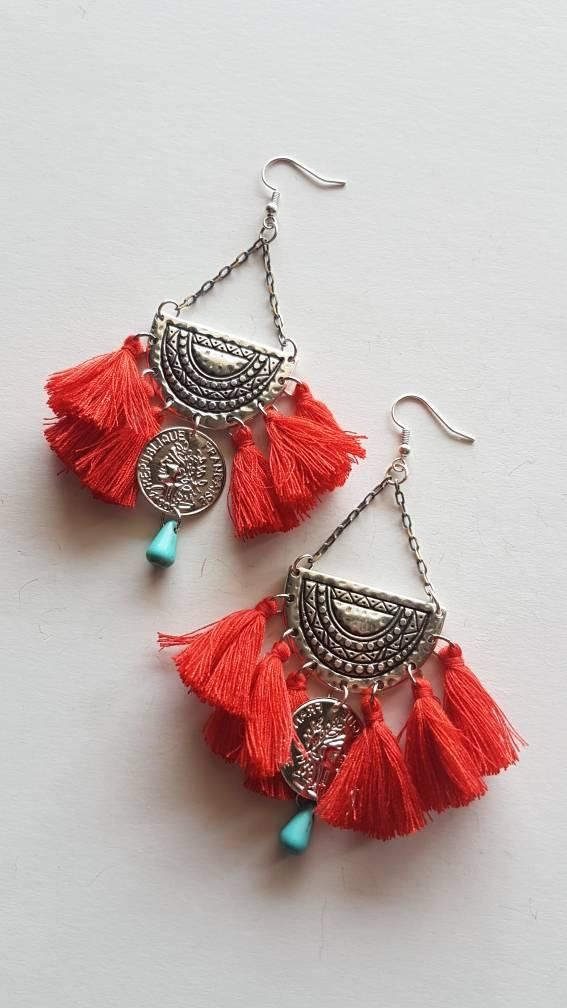 Check out this item in my Etsy shop https://www.etsy.com/listing/608215801/handmade-earrings-with-tassels-tassel