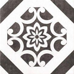 Carrelage en grès émaillé blanc et noir pour sol intérieur L. 32,5cm l. 32,5cm Ep. 8mm - Brico Dépôt