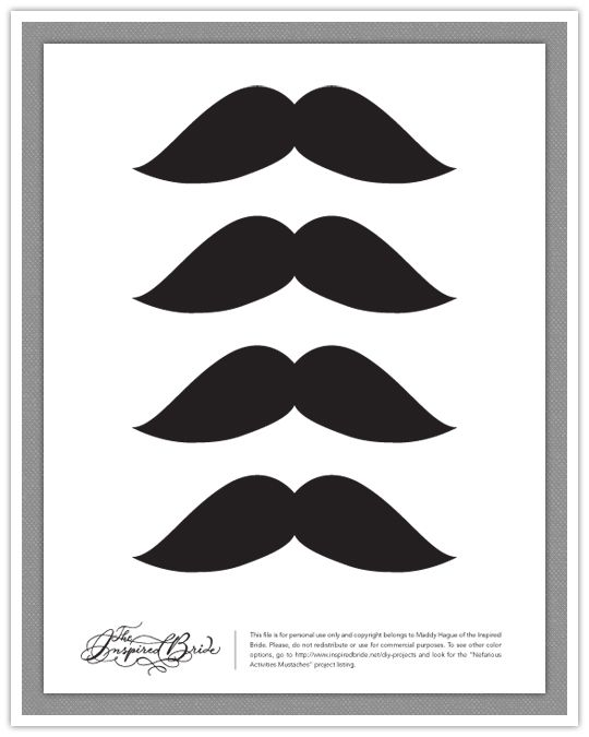 mustache print out template - 28 best images about mustache party printables and ideas