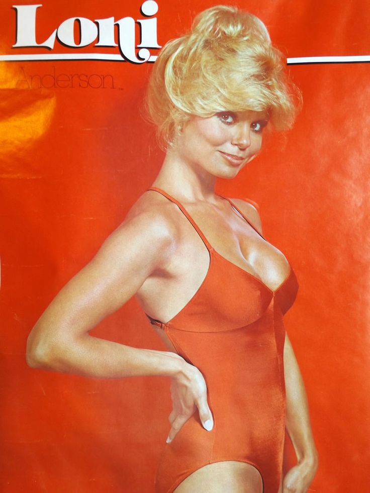 vintage 1978 loni anderson poster red swimsuit wkrp model