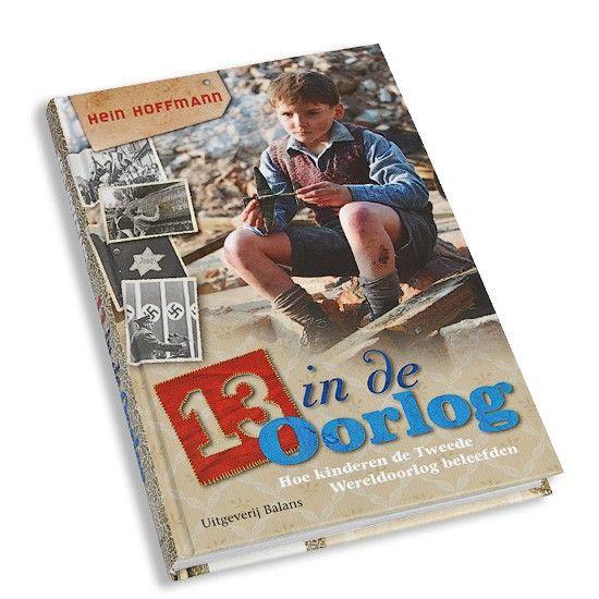 In het boek 13 in de Oorlog lezen kinderen hoe het was om kind te zijn in oorlogstijd. Een informatie boek over de Tweede Wereldoorlog met foto's.