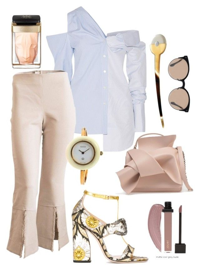 """""""attending a conference"""" by constantinerenakossy on Polyvore featuring Cartier, Gucci, Monse, Balenciaga and Constantine/Renakossy"""