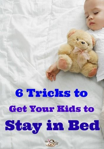 6 Tricks to Get Your Kids to Stay in Bed -- so you can get some sleep! http://thestir.cafemom.com/toddler/167030/6_tricks_to_getting_your?utm_medium=sm&utm_source=pinterest&utm_content=thestir