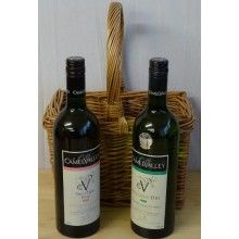 Camel Valley Bacchus and Rose Wines presented in a Handmade Wicker Basket - Ideal Father's Day Gift!