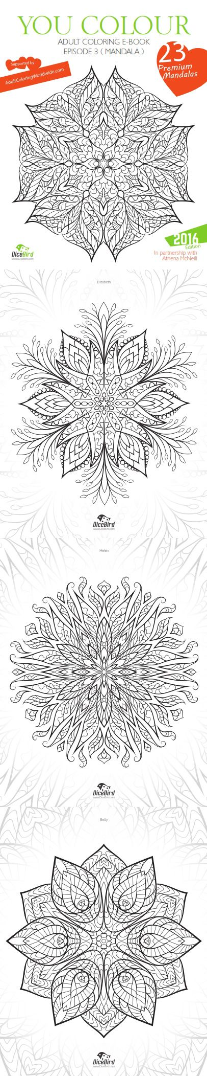 The coloring book e book - You Colour Adult Coloring E Book 23 Design Flowers Mandalas Adult Coloring Pages And Sheets Calm Stress Relief Mental Therapy