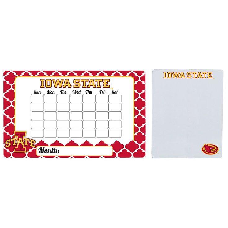 Iowa State Cyclones Dry Erase Calendar & To-Do List Magnet Pad Set, Multicolor