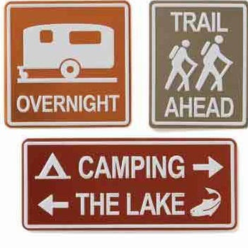 camping signsCamps Signs, Crafts Ideas, Metals Signs, Camps Guestroom, Camping, Camps Stuff, Camps Scrapbook, Metal Signs, Signs Camps
