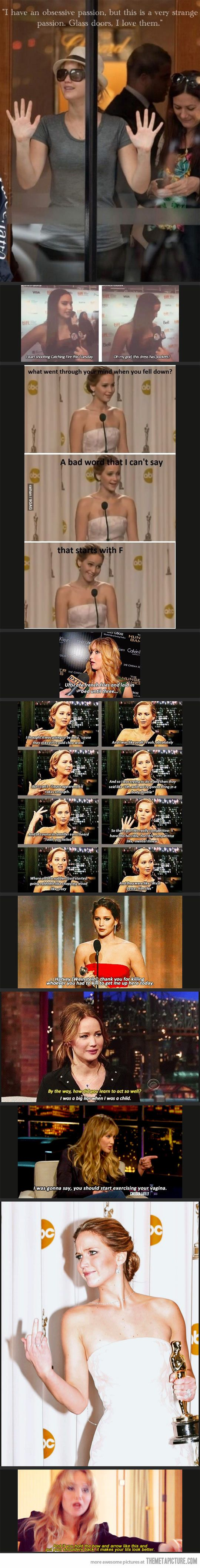 Oh, Jennifer Lawrence… level 10 girl crush