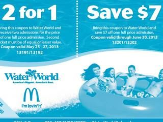 Discounts average $15 off with a Water World Colorado promo code or coupon. 12 Water World Colorado coupons now on RetailMeNot.