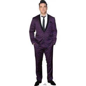 Robbie Williams in Purple Suit Lifesize Cardboard Cutout