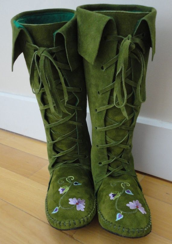 Fairytale boots, many colors, made to order. Check out my etsy shop! click below: https://www.etsy.com/listing/170355978/earthgarden-fairytale-knee-high-boots-in?ref=shop_home_active_18