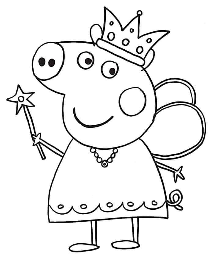 peppa pig princess coloring pages  peppa pig coloring