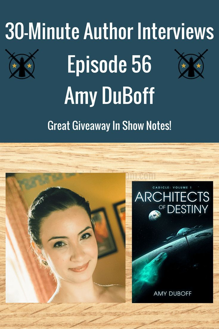 Episode 56 | Amy DuBoff Amy DuBoff is sci-fi/space opera author. She is releasing Scions of Change, book 7 in her Cadicle series. She is now a full-time author and is transitioning in that new stage in her life. Come and learn more about her and her Cadicle series and a new anthology series called Pew! Pew! – Sex, Guns, Spaceships… Oh My!