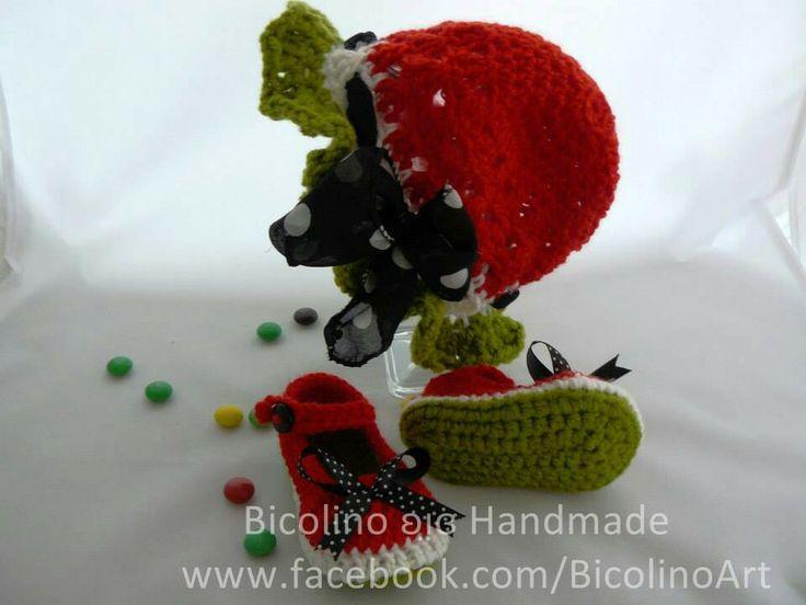 Watermelon crochet outfit