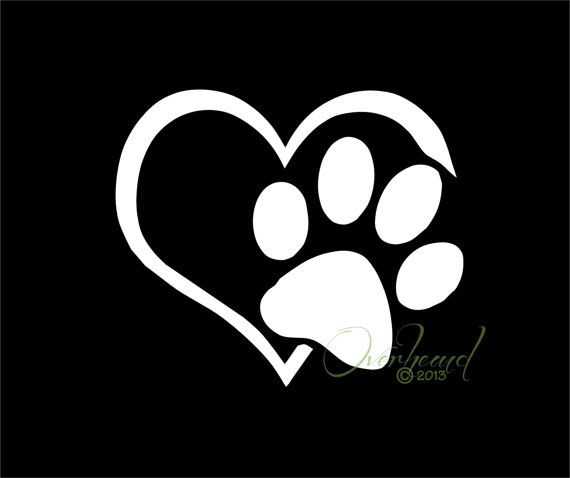 Paw with Heart I love my Dog Pet Window Vinyl Car by Overhemd, $5.49. Promo code CIJ10 is for 10% off your whole order on the month of July 2013!
