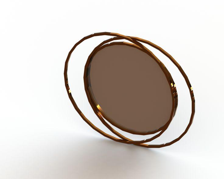 Espelho Em latão/Bronze