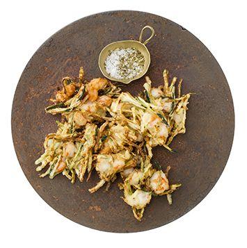 せん切りズッキーニとエビのかき揚げの作り方・レシピ | 暮らし上手