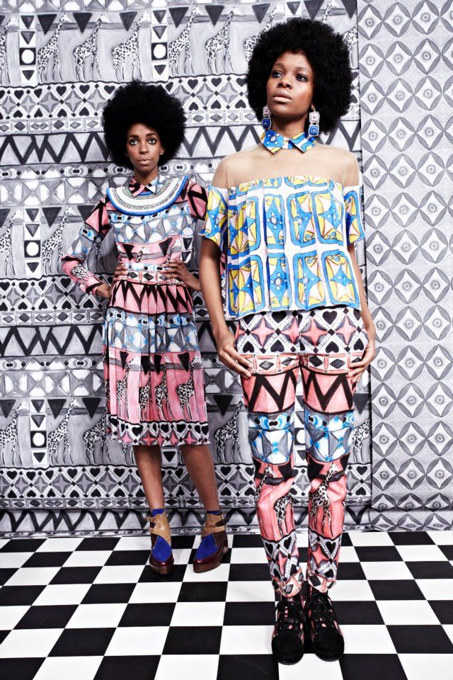 Tata Naka's African Inspired A/W 2012 Collection at London Fashion Week