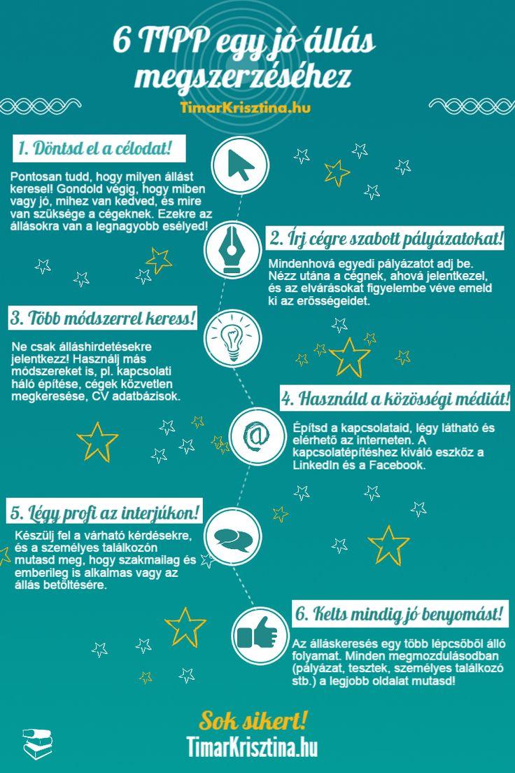 6 TIPP egy jó állás megszerzéséhez #infografika #infographic