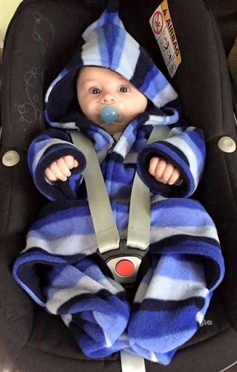 Blue Stripe Fleece Babysnuggle