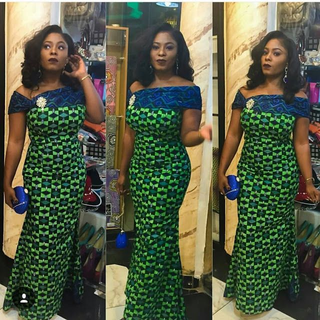 Beautiful Ankara Long Gown Design