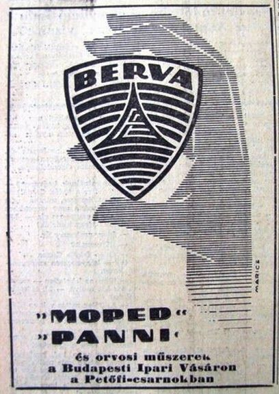 Berva motor (Moped, Panni) 1960