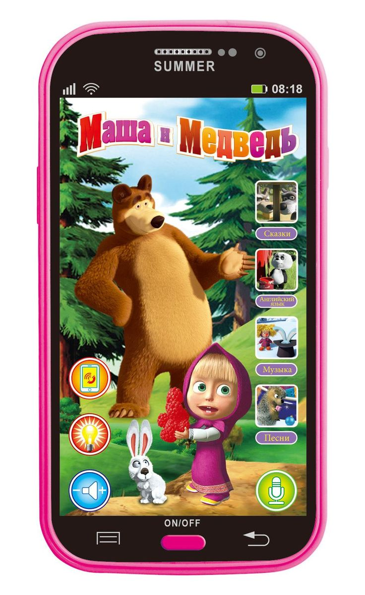 Talking Masha and Bear phone dolls Learning & education Russian English Language Baby mobilephone Electronic kid's Toy phones