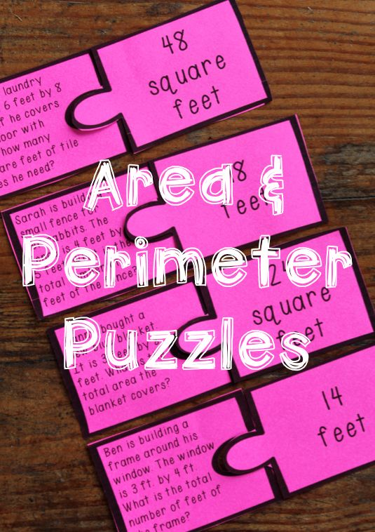 Area and Perimeter Game - Puzzles