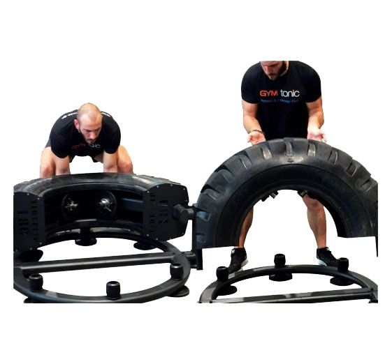 Here is a functional training device that lets you perform tire training in a safe fashion. The Abs Company TireFlip 180 allows you to add up to 40 pounds of weight to push your body harder. The tire travels 180 degrees. You get battle rope anchors and floor mounting points. Latest MMA training gear here …